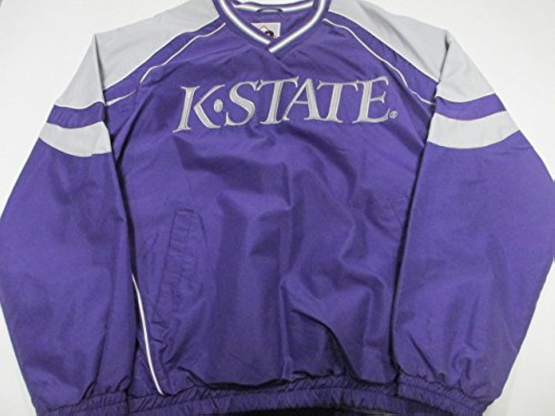 Kansas State Wildcats Mens Medium刺繍プルオーバーウィンドブレーカージャケットAksu 3 M