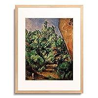 ポール・セザンヌ Paul Cézanne 「Der rote Felsen. Gegen 1900.」 額装アート作品
