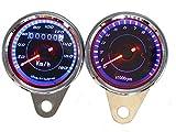 ImP 汎用 LED 機械式 スピード メーター 180km + 電気式 タコ メーター 13000rpm