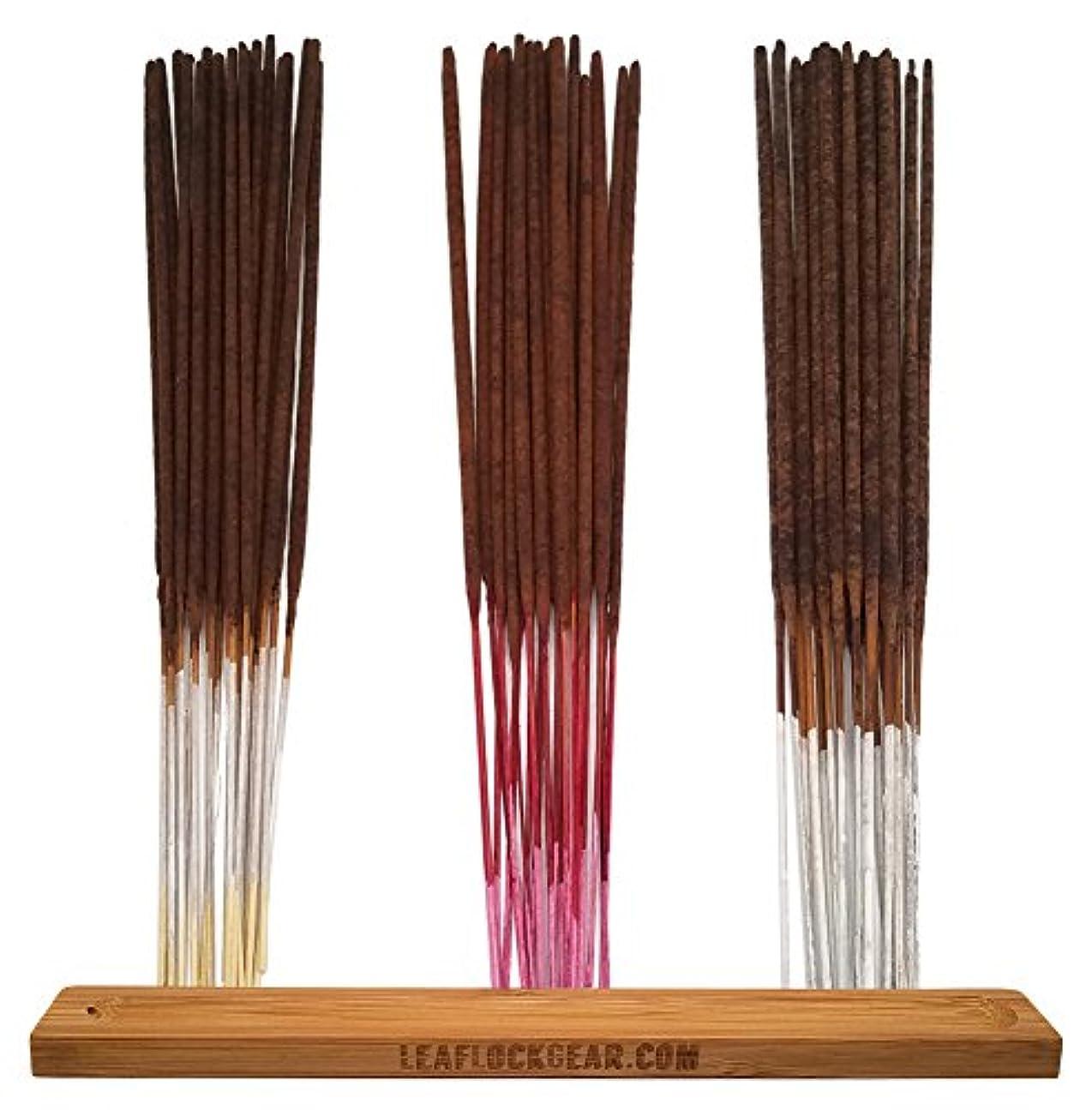 メンダシティ危険にさらされているバンガローバンドル – 61アイテム – Wild Berryお香「バニラ」香りサンプラー。Includes 20 Sticks各のバニラ、チェリーバニラ、と梨バニラwith Incense Stick Burner