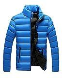 (エムズダイス)M's Dice ダウンジャケット メンズ ダウンコート 風 中綿 軽量 ジャケット アウター メンズファッション (15.ブルー M)