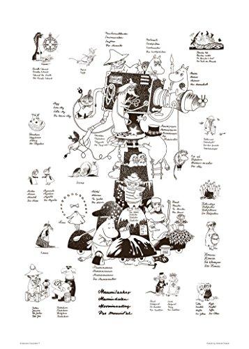 Putinki(プティンキ) ムーミン モノクロポスター ムーミンキャラクターズ PTK040069