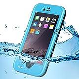 KYOKA iPhone6Plus iPhone6s Plus 防水ケース 指紋認証対応 防水 耐震 防塵 耐衝撃 IP68 アイフォン6sプラス 防水ケース 防水カバー (iPhone6Plus/6sPlus, ブルー)