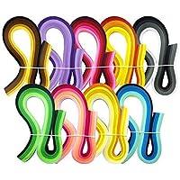 JPSOR 900枚クイリングペーパーセット 幅3mm 9色グラデーション色 手作りペーパークイリング ペーパー?クラフト ハンドメイド DIY ホビー 手芸 造花