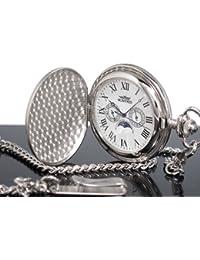MONTRES モントレス ムーンフェイス 933 懐中時計 柄付 ホワイト/ローマ -新品税込-[並行輸入品]