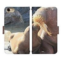 isai V30+ L-01K ベルト有り 手帳型 スマホケース スマホカバー di415(C) セイウチ 海象 モールシュ イサイ スマートフォン スマートホン 携帯 ケース イサイV30プラス 手帳 ダイアリー フリップ スマフォ カバー
