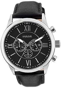 [フォッシル]FOSSIL 腕時計 レザーベルト クロノグラフ BQ1130 メンズ ブラック