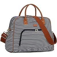 BAOSHA Canvas Carry On Weekender Overnight Travel Duffel Bag for Women HB-33