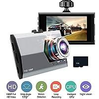 170分の120度広角車DVRのカメラHD 1080Pビデオレコーダー自動レジのDVRダッシュカムナイトビジョンモーション検知 170度 32G SD Card