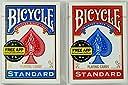 マジックに最適!トランプの王様「BICYCLE バイスクル ライダーバック808 ポーカーサイズ」人気のレッド&ブルーをセットでGET !