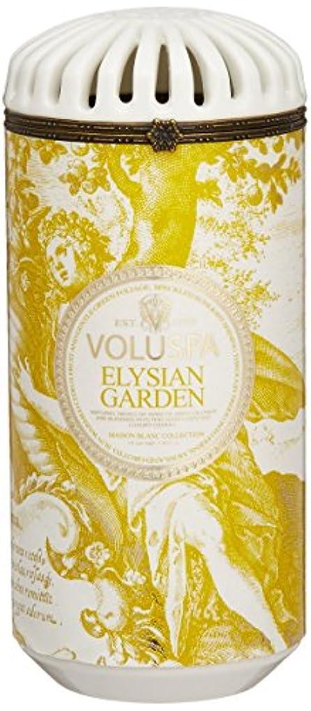 瞑想的薄汚い息を切らしてVoluspa ボルスパ メゾンブラン セラミックキャンドル エリシアンガーデン MAISON BLANC Ceramic Candle ELYSIAN GARDEN