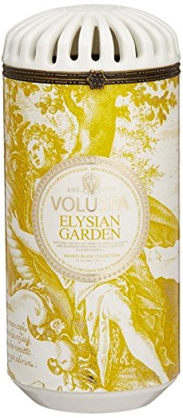 手当顕微鏡有力者Voluspa ボルスパ メゾンブラン セラミックキャンドル エリシアンガーデン MAISON BLANC Ceramic Candle ELYSIAN GARDEN