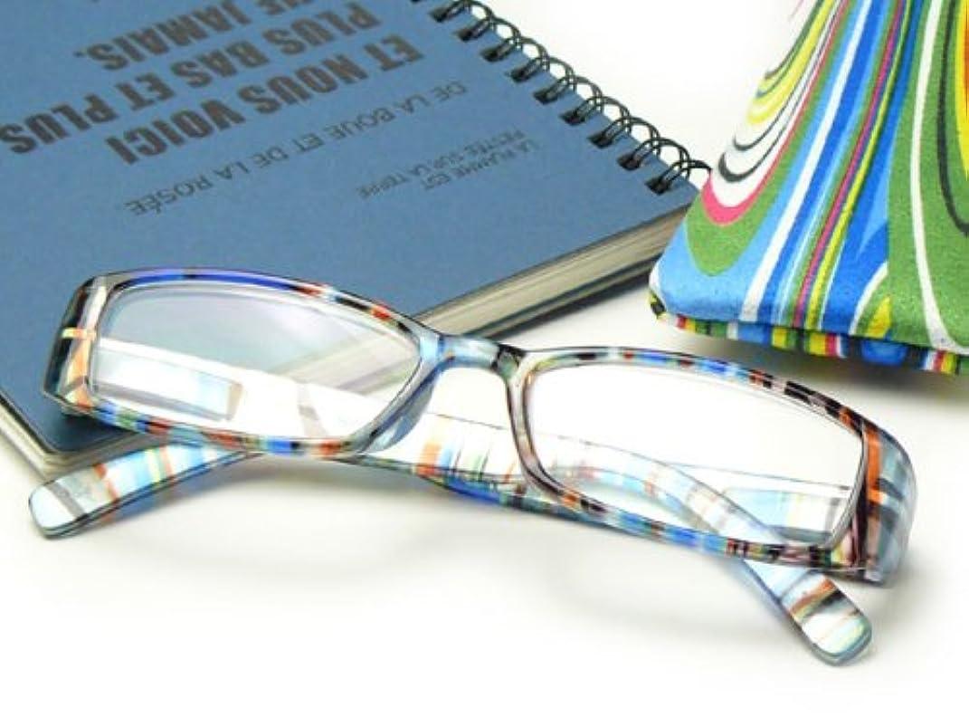 オシャレな老眼鏡?シニアグラス(既製)?RP-399 ブルー 【レンズ度数:+1.50】 (CK-RP399-BL-150) 【オシャレな老眼鏡?お洒落なシニアグラス?リーディンググラス】