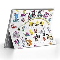 Surface go 専用スキンシール サーフェス go ノートブック ノートパソコン カバー ケース フィルム ステッカー アクセサリー 保護 カラフル 動物 キャラクター 009185