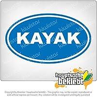 カヤック Kayak 17cm x 11cm 15色 - ネオン+クロム! ステッカービニールオートバイ