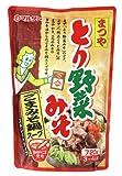 マルサン まつやとり野菜みそ ごまみそ鍋スープ 720g×8袋