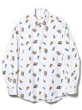 (ビームス) BEAMS / ブロード 総柄プリントシャツ WHITE M 11114050803