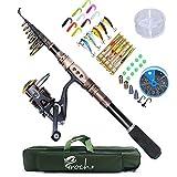 釣りセット ロッド スピニングリール セット 釣り具 炭素繊維ロッド 釣り糸、釣り針、ルアー 海釣り・淡水両用