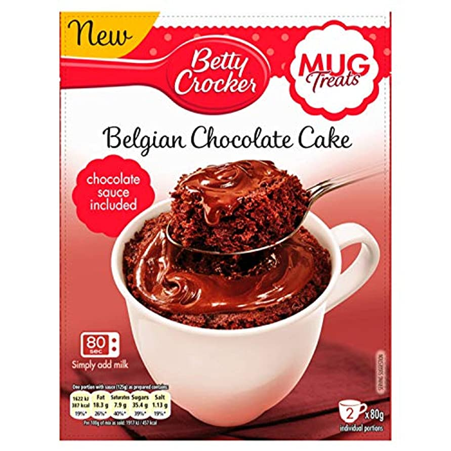 レタッチもの弓Betty Crocker Mug Treats Belgian Chocolate Cake Mix 2x80g