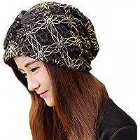 帽子 レディース 薄手 花柄 刺繍 婦人用 ケア帽 医療帽 抗がん剤 大きめサイズ ガーゼ グレース サマーレース帽 ワッチキャップ 医療用帽子 おしゃれ 可愛い