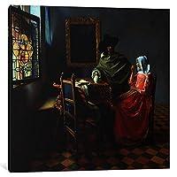 iCanvasART 1Piece Theワインガラスキャンバスプリントby Johannes Vermeer 1.5 x 37 x 37-Inch 1517