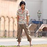 シャツ メンズ 半袖 花柄 アロハシャツ アロハ リゾート カジュアル 【w033】 スペード画像④