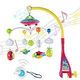 Wishtime 赤ちゃん おやすみメリー フロアーメリー 音楽ベッドメリー 寝かしつけ用品 360度回転 投影 メロディ 0歳から モビール おもちゃ 知育玩具 赤ちゃん メリー