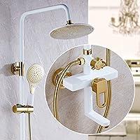 LJ すべてのブロンズホワイトゴールドシャワーヘッド加圧されたシャワーセット