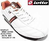lotto(ロット) トロフェオロード CS7066 メンズ 人気の細見モデル スニーカー !! レースアップ 2017年モデル (26.5cm, ホワイト/ブラウン)