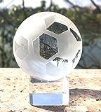 Waltz&F直径50mmクリア水晶サッカー クリスタルボール スタンド付き インテリア 開運グッズ 装飾置物