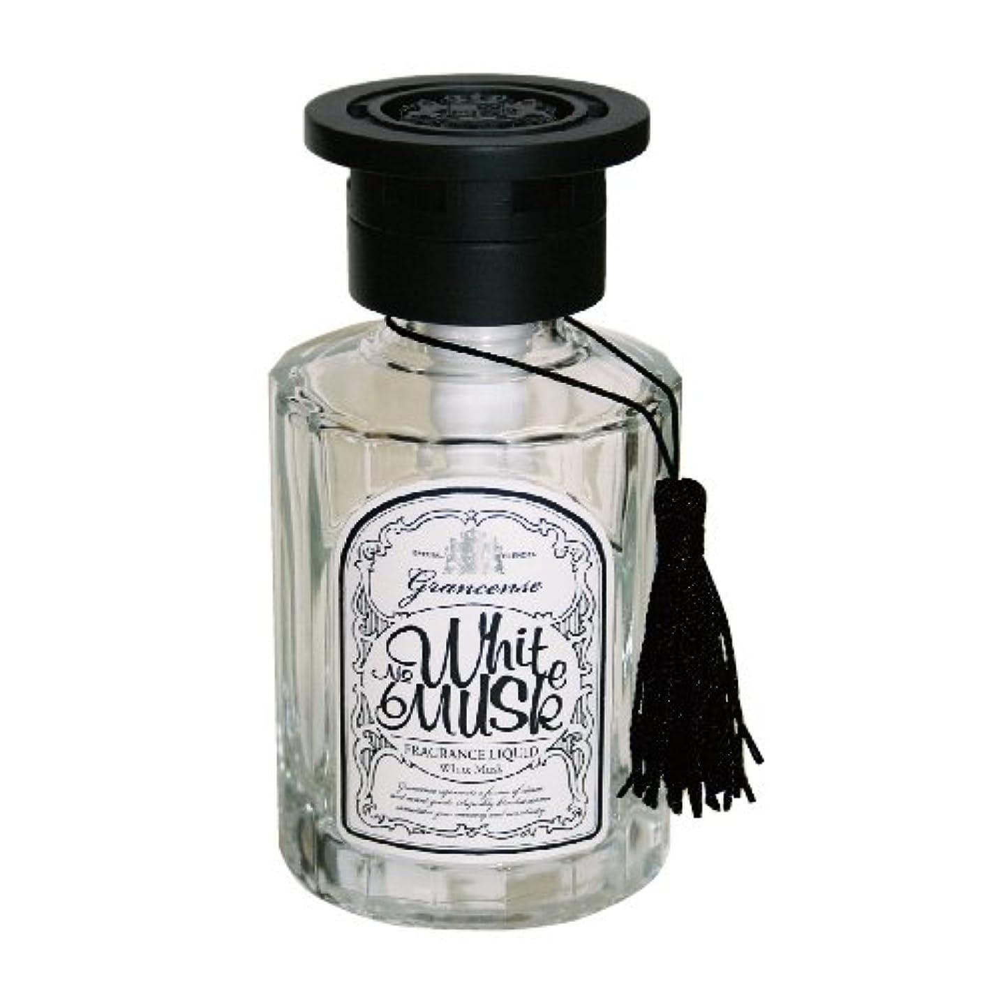 抵抗する中間呼吸グランセンス フレグランスリキッド(約1~1.5ヶ月) ホワイトムスク 120ml(室内用芳香剤 ルームフレグランス タッセル付 ベルガモットとミントの透明感ある香り)