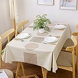 Purzest テーブルクロス テーブルカバー 防水 防油 撥水 厚手 滑り止め 北欧 PVC (137x180cm)