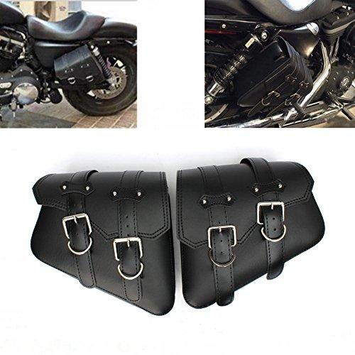 オートバイク汎用 サイドバッグ ハーレースポーツスターXL 883 1200 にフィット 右左セット ブラック