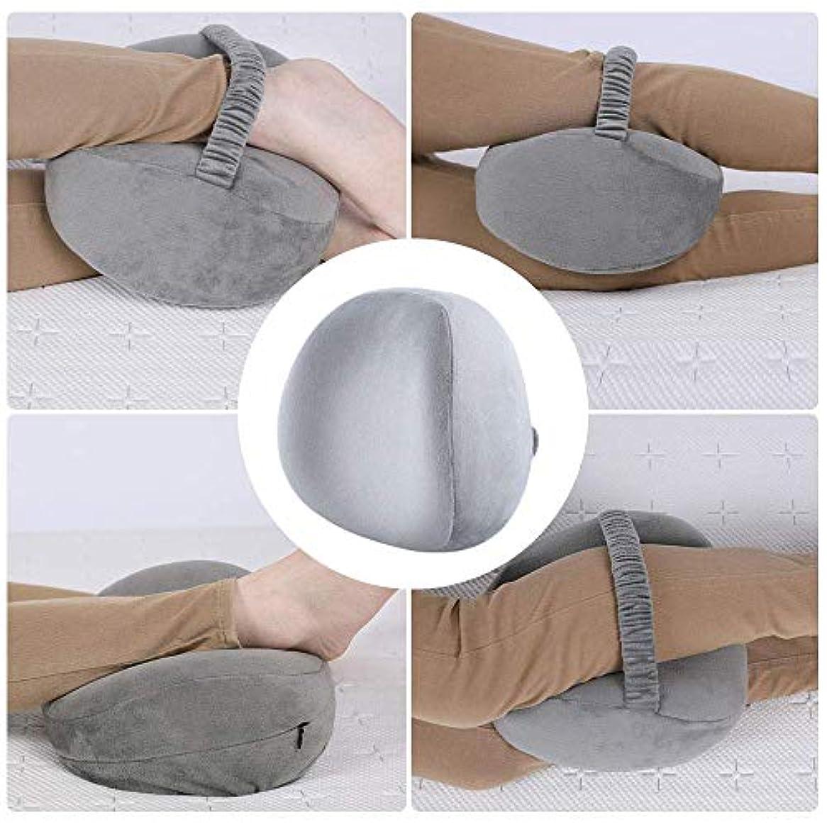 雨機械統合YiTong サイドスリーパー用ニーピローレッグポジショナー-ヒップ、背中、脚、膝の痛み、脊椎のアライメント、坐骨神経痛の緩和、妊娠–ウォッシャブルカバー付きプレミアムメモリーフォームウェッジ輪郭(グレー)