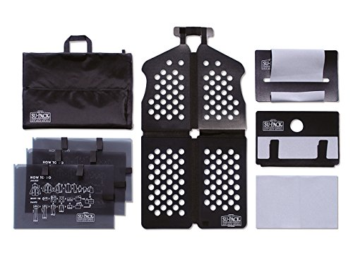 SU-PACK HARD PLUS L スーツ/シャツ/ネクタイを4分の1収納する特許ホルダー キャリーケースに入る世界最小級ガーメントケースセット(スーパック ハードプラス L) All in One 7点セット(Lサイズ)