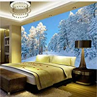 Jason Ming Hd雪風景写真の壁紙リビングルームテレビソファ背景壁の壁画現代の3D不織布家の装飾3D S-150X120Cm