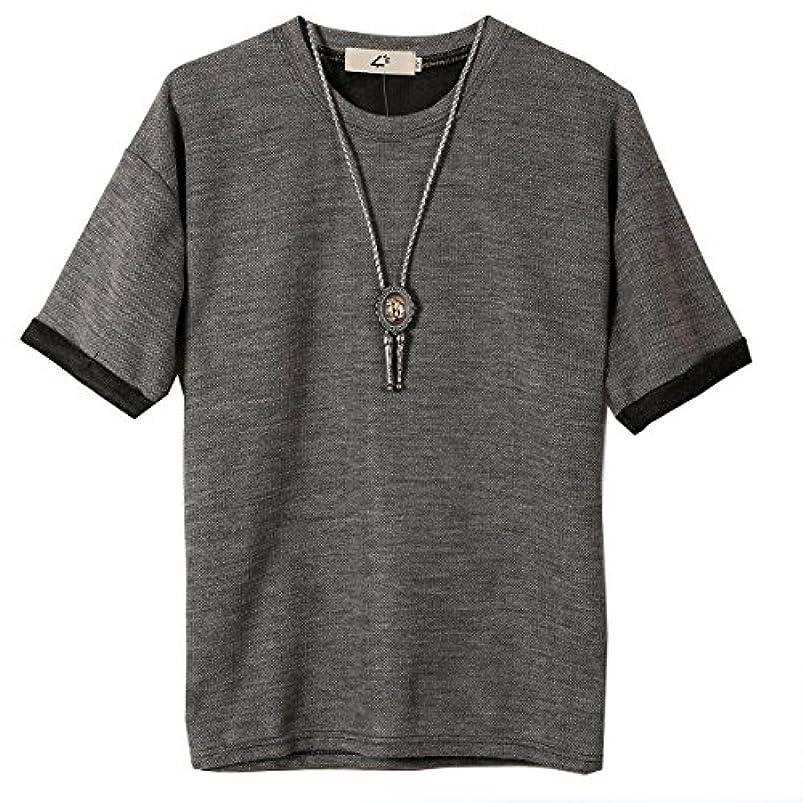 持つ乳白色死ININUK Tシャツ メンズ 短袖 丸ネック 春 夏 ストレッチ Tシャツ 軽い 柔らかい シルエット スポーツ かっこいい おしゃれ Tシャツ 夏 ファション 人気 快適