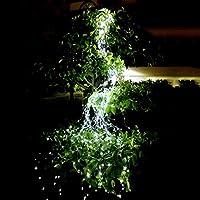 ソーラー LEDストリングライト イルミネーションライト ソーラー充電式 8led電球防雨型 屋外 IP65防水 電飾 飾り パーティー クリスマス/ハロウィン/パーティー/バレンタインデー/新年/祝日/結婚式/学園祭屋外/室外/室内/庭対応 ソーラーパネル 飾りライト (ホワイト)