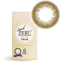 カラコン 2ウィーク ゼル 2week ZERU. 1箱6枚入り ナチュラルサークルレンズ(ライトブラウン,-2.25)