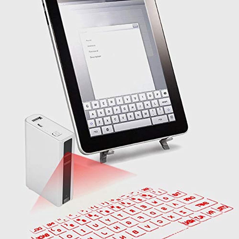 ベックス泣く連帯Qiilu. バーチャルキーボード 投映型 無線キーボード VKBキーボード技術Bluetoothキーボード プロジェクション キーボード タブレット スマートフォン PC用 IOS 4/5/6 Android 3.1以降(シルバー)