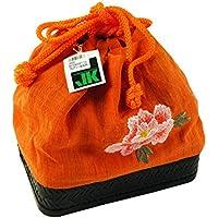 ジュンコ コシノ 巾着バッグ かごバッグ 麻巾着 kk-51 B橙・つばき