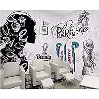 Wuyyii 3Dカスタム壁紙ヨーロッパとアメリカのファッションセメントの壁化粧品ネイルの背景の壁紙壁画 - 250X175Cm