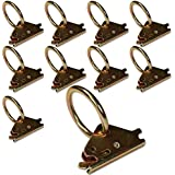 TEN Steel E-Track O Ring Tie-Down Anchors for Cargo Loads in Enclosed/Flatbed Trailer Truck (ETrack Rails Not Included)