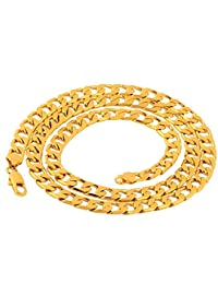 Niome Men's Stainless Steel Filled Curb Cuban Chain Necklace Jewelry 6mm 24""