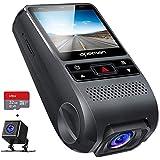 【進化版】 APEMAN ドライブレコーダー 前後カメラ 32Gカード付き 1080PフルHD 1200万画素 170度広角 GPS機能搭載 小型2インチ デュアルレンズ Gセンサー搭載 WDR 夜間対応 常時録画 駐車監視 動き検知 ドラレコ 車載カメラ 防水カメラ