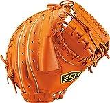 ZETT(ゼット) 野球 軟式 キャッチャー ミット デュアルキャッチ (右投げ用) BRCB34712 オレンジ