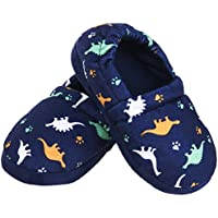 Festooning Toddler Boy Kid Slippers Cozy Comfy Indoor Slip-On Anti-Slip Sole House Shoe