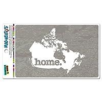 カナダホームカントリー MAG-NEATO'S(TM) ビニールマグネット - 暖かい質感グレーグレー