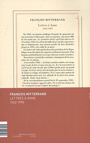 Lettres à Anne: (1962-1995)