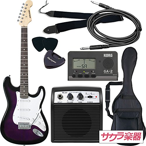 SELDER セルダー エレキギター ストラトキャスタータイプ ST-16/PPS 初心者入門ベーシックセット
